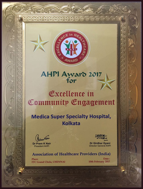 AHPI Award 2017 for Excellence in Community Engagement