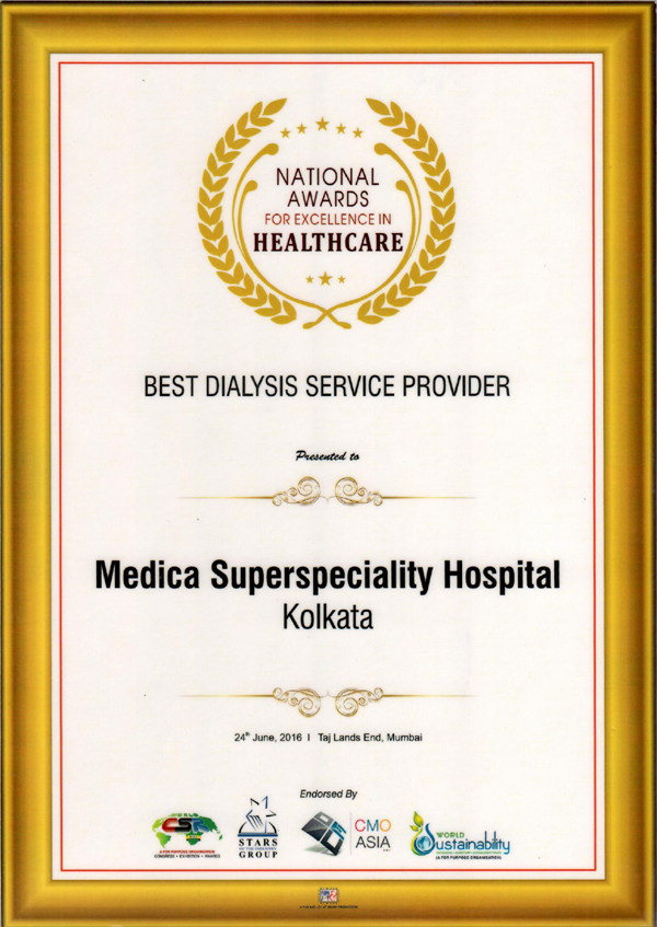 National Awards for Excellence in Healthcare of Medica Superspeciality Hospital Kolkata