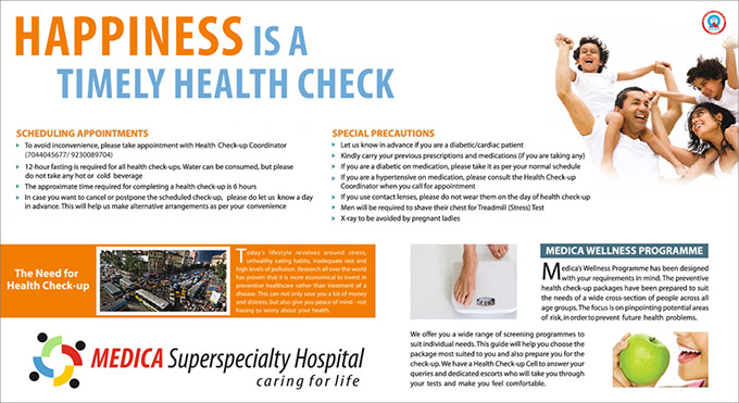 Health Check-up at Medica Superspecialty Hospital